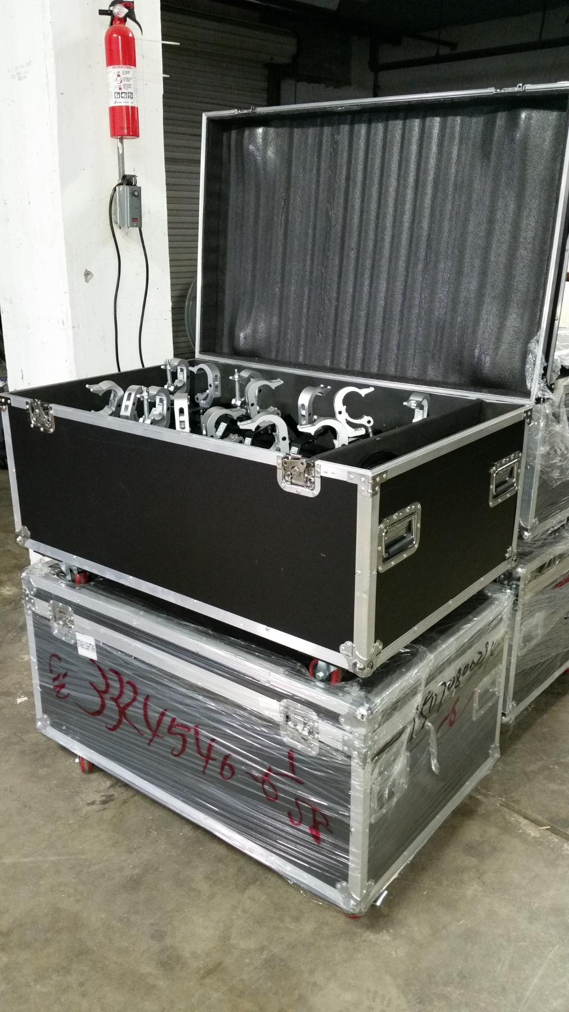 $2399 for a case of 14 w/truss clamps & all cabling (Freight)
