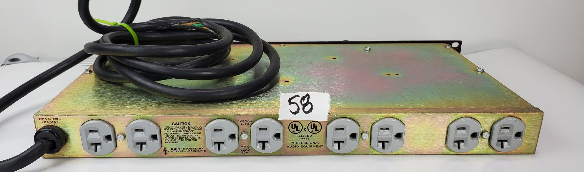 20 Amp Power Conditioner with Pull-out Lights, USB Port, and Voltmeter